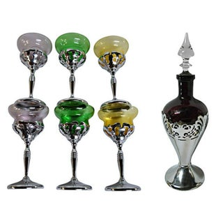 Martini Goblets and Decanter - Set of 6