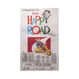 "1957 Original Movie Poster for ""The Happy Road"""