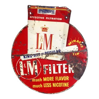 Vintage Original Liggett & Meyers Cigarette Sign