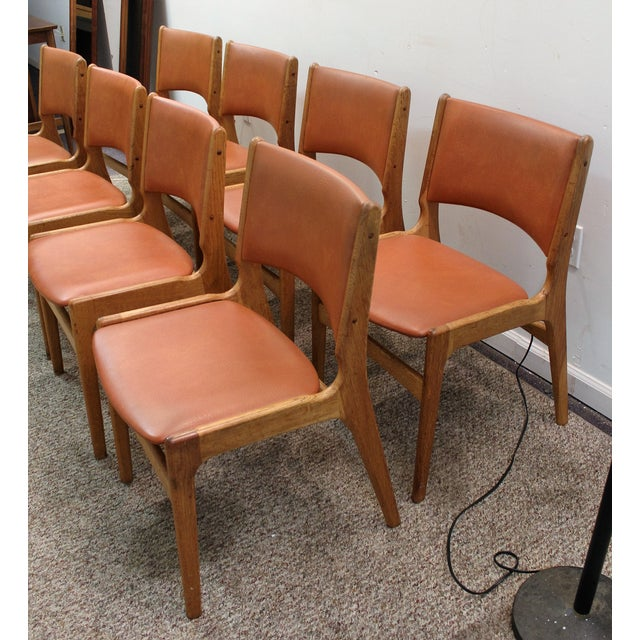 mid century danish teak side chairs set of 8 chairish