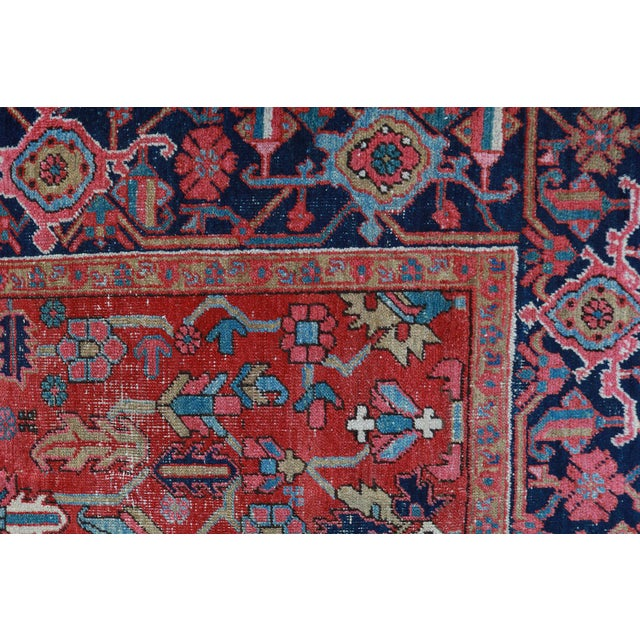 Antique Persian Heriz Rug - 9′6″ × 12′6″ - Image 5 of 6