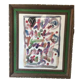 Jane Gilday Automatic Writing Watercolor