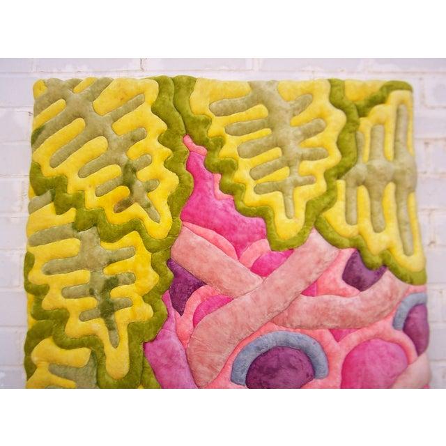 Modern Velvet Wall Sculpture by Bill Godfrey - Image 3 of 10