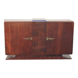Beautiful French Art Deco Macassar Ebony Sideboard / Buffet / Bar Circa 1940s.