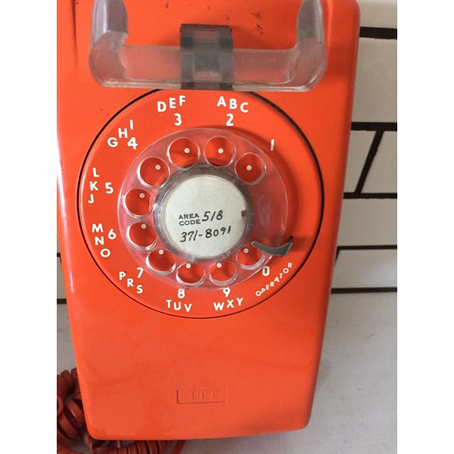 Vintage Orange Wall Phone - Image 7 of 12