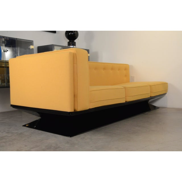 Upholstered in a New Yellow Knoll Wool MIM Roma (Ico Parisi) Sectional Sofa by Luigi Pellegrin - Image 8 of 10