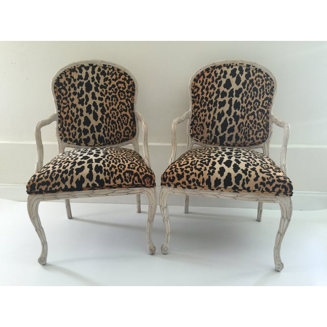 Italian Leopard Chairs - Pair - Image 2 of 6