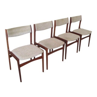 1960s Mid-Century Teak Dining Chairs - Set of 4
