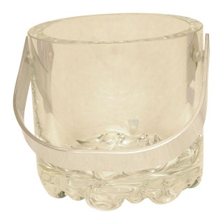 1970's Minimalist Orrefors Crystal Ice Bucket