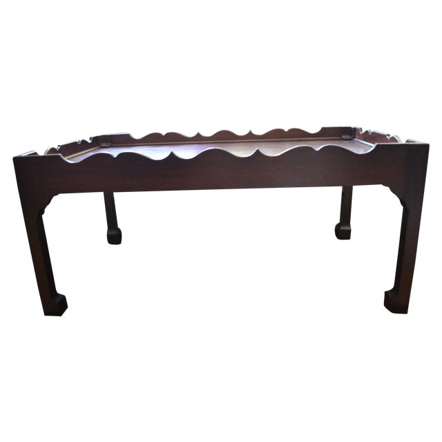 Baker Coffee Table With Chippendale Detail Chairish