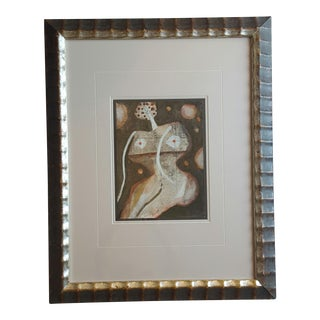 Framed Abstract Nude Painting