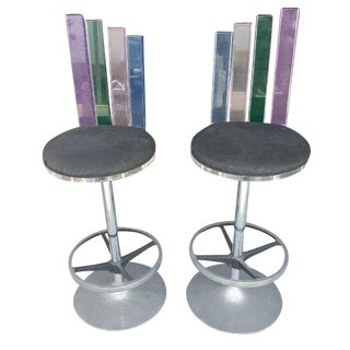 Hiziza Custom Lucite Bar Stools - Pair