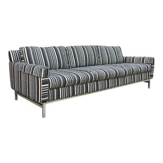 Mid-Century Chrome Base Sofa