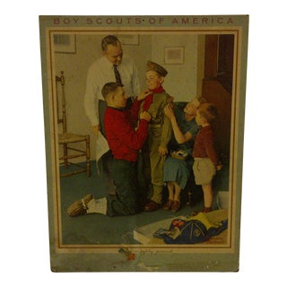 "Vintage Norman Rockwell Print of ""Boy Scouts of America"""