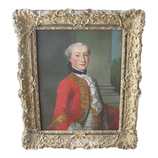 18th-Century Framed Portrait Painting
