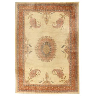 Antique Oversize 19th Century Turkish Borlu Carpet