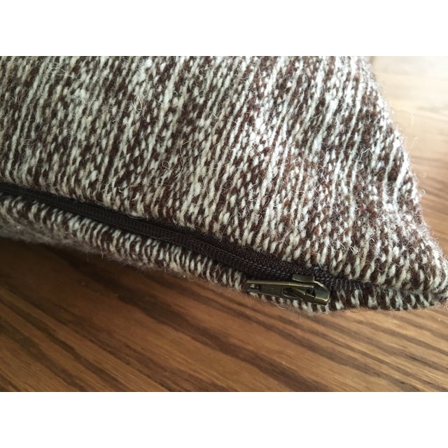 Handwoven Wool Accent Pillow - Image 4 of 4