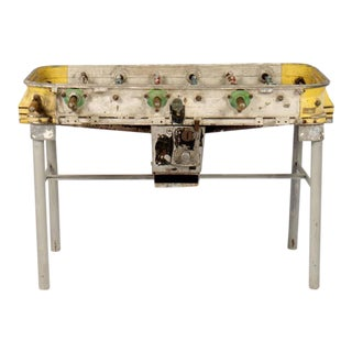 Yellow Vintage Cast Aluminum Foosball Table