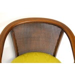 Image of Mid-Century Cane Horseshoe Barrel Chairs - A Pair