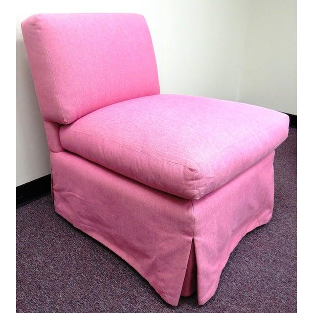 Edward Ferrill LTD Pink Armless Chair - Image 3 of 5