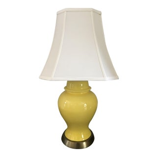 Canary Yellow Ginger Jar Lamp