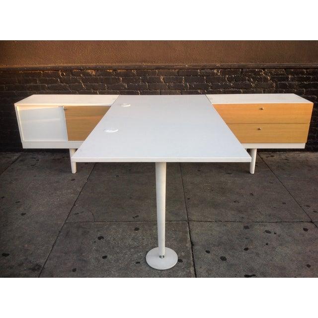 vitra level 34 modular office desk chairish. Black Bedroom Furniture Sets. Home Design Ideas