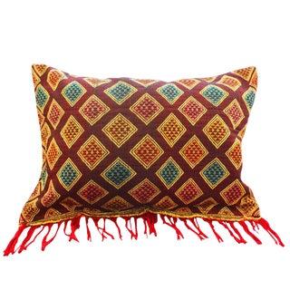 Boho Chic Hand-Loomed Sumba Ikat Pillow
