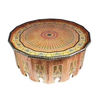 Vintage Hand Painted Moroccan Coffee Table