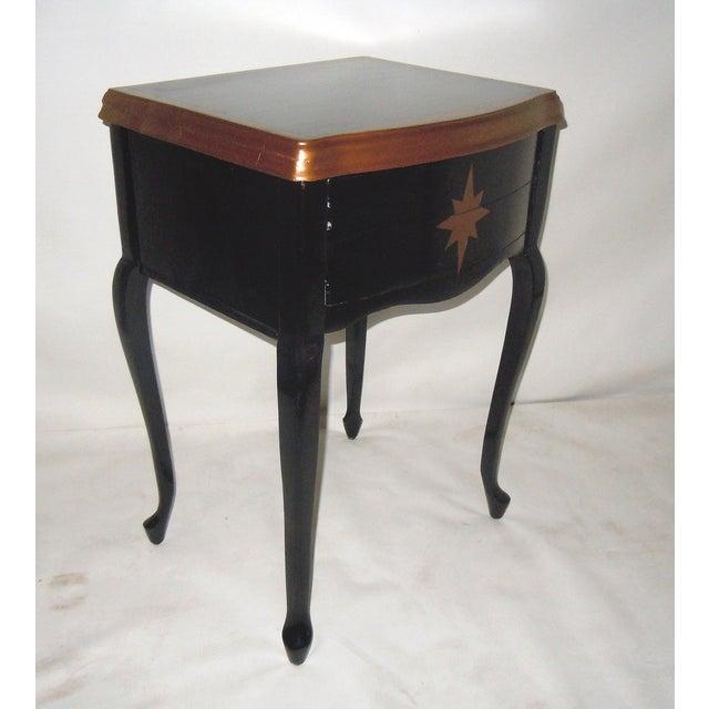 30s Mid Century Ebony Side Table - Image 7 of 8