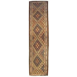 Early 20th Century Persian Qazvin Kilim Runner