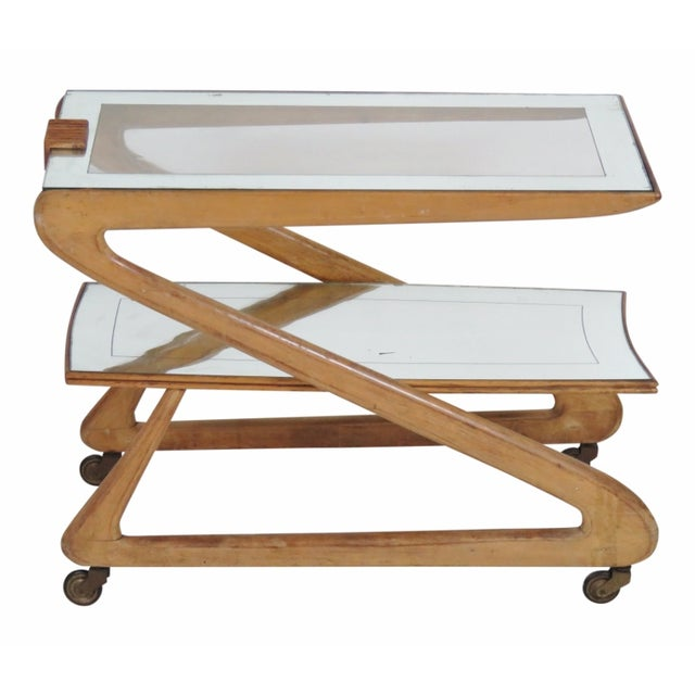 Zanuso Style Modern Bar Cart - Image 1 of 4