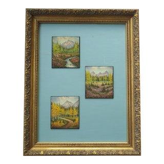 Frame Vintage Carl Beck Colorado Rocky Mountain Landscape Paintings
