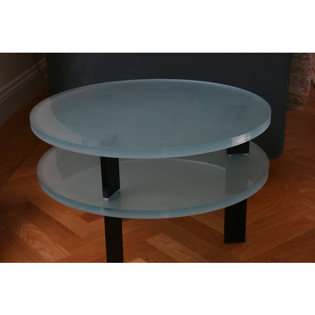 Glass Saporiti Italia End Tables - Image 2 of 4