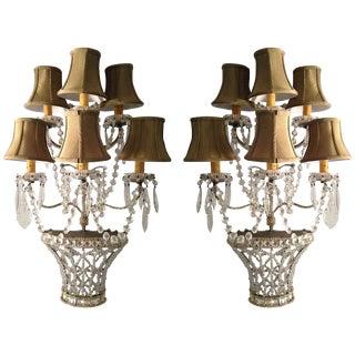 Pair of Venetian Sconces Tony Duquette Style, Hi-Glam Hollywood Regency