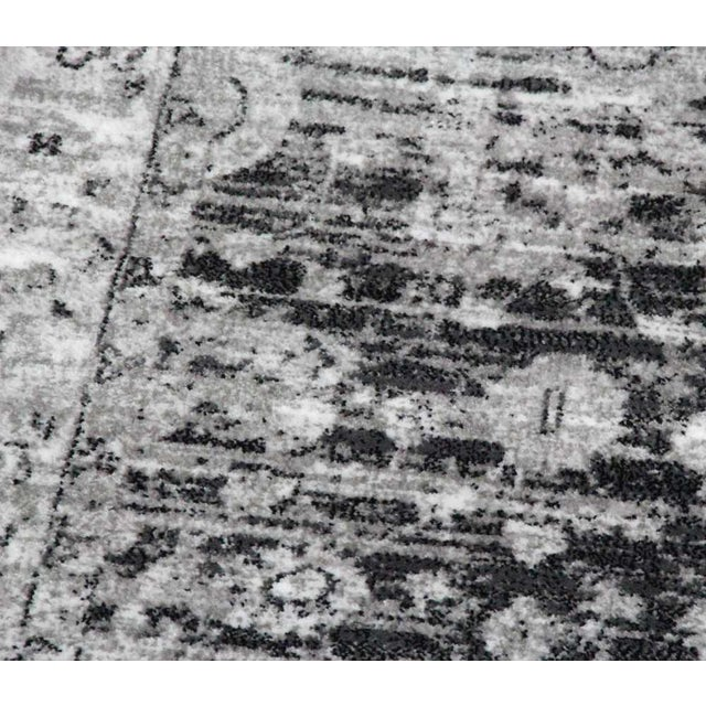 """Vintage Style Distressed Gray Rug- 5'3"""" x 7'7"""" - Image 3 of 5"""