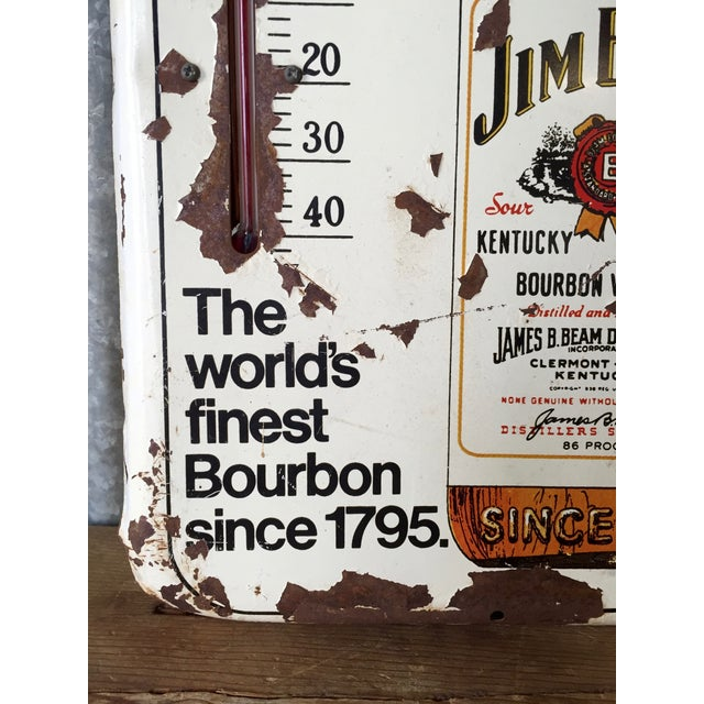 Vintage Original Jim Beam Advertising Thermometer - Image 9 of 9