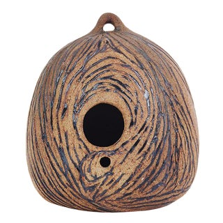 Mid-Century Style Ceramic Birdhouse