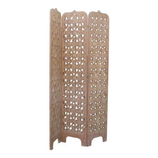 Wooden Carved Room Divider
