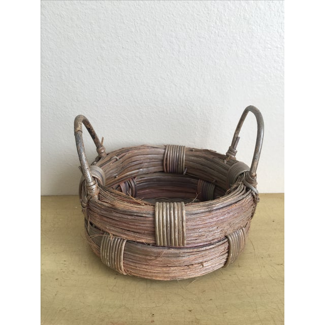 Rustic Wicker Basket, Vintage Holiday Decor - Image 7 of 7