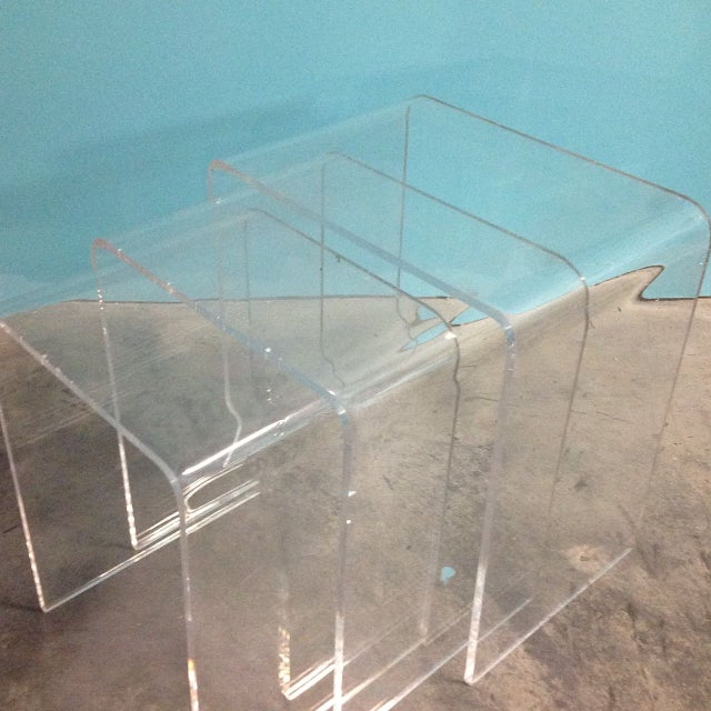 Vintage Lucite Nesting Tables - Image 3 of 4