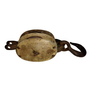 Antique Double Pulley Block and Tackle
