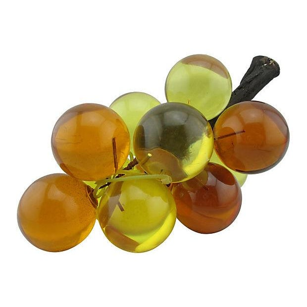 Image of Orange & Yellow Lucite Grape Cluster