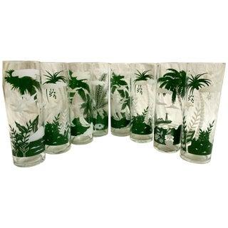 Tropical Highball Glasses - Set of 8