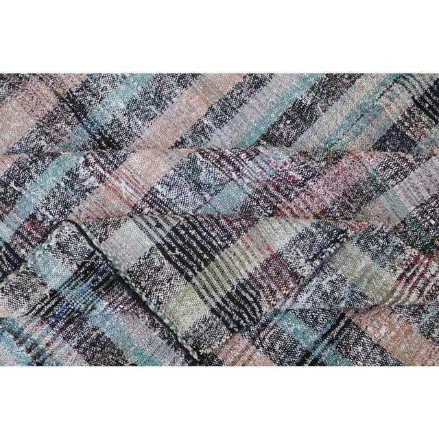 Vintage Turkish Multi Color Flatweave Rug - 7′8″ × 10′1″ - Image 6 of 6