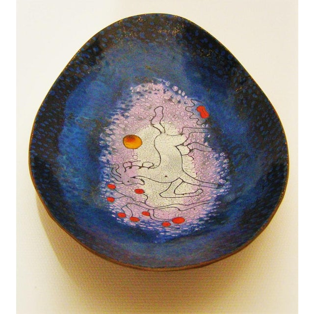 Mid-Century Modern Enamel & Copper Dish by Lopez Rodezno - Image 9 of 11