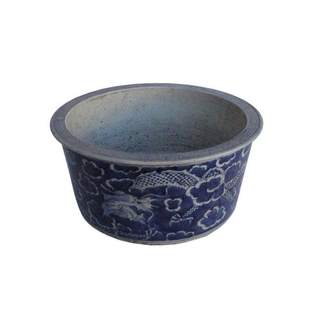 Chinese Porcelain Blue & White Flower Pot Planter - Image 3 of 4