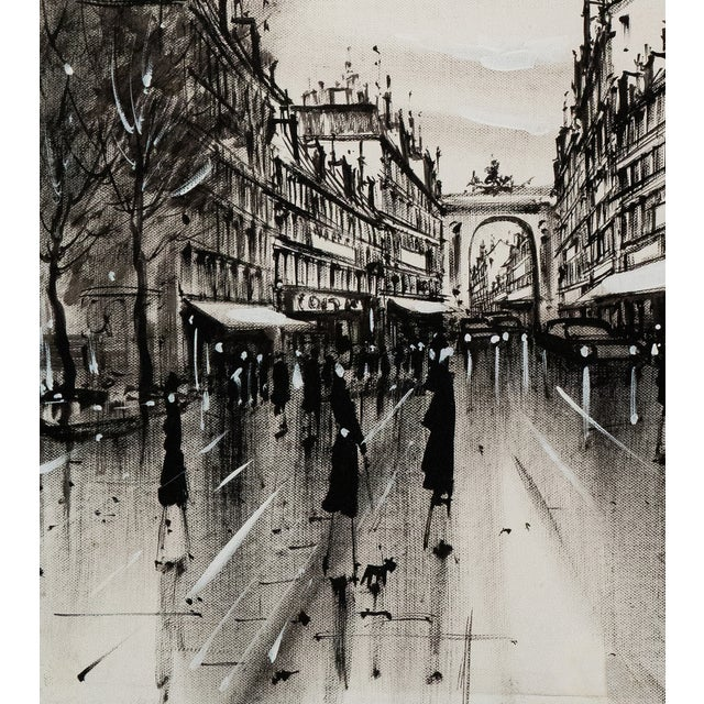 Champs-Elysées and the Arc De Triomphe, Grisaille - Image 5 of 6