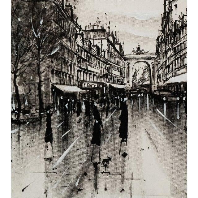 Image of Champs-Elysées and the Arc De Triomphe, Grisaille