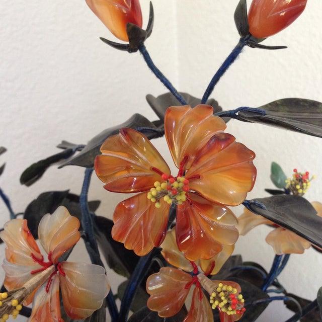 Vintage Flowering Jade Tree in Cloisonné Planter - Image 3 of 6