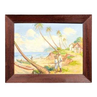Island Landscape Oil Painting